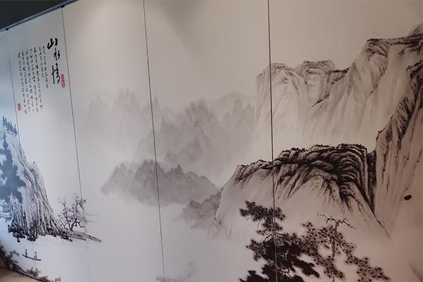 生产山水画饰面